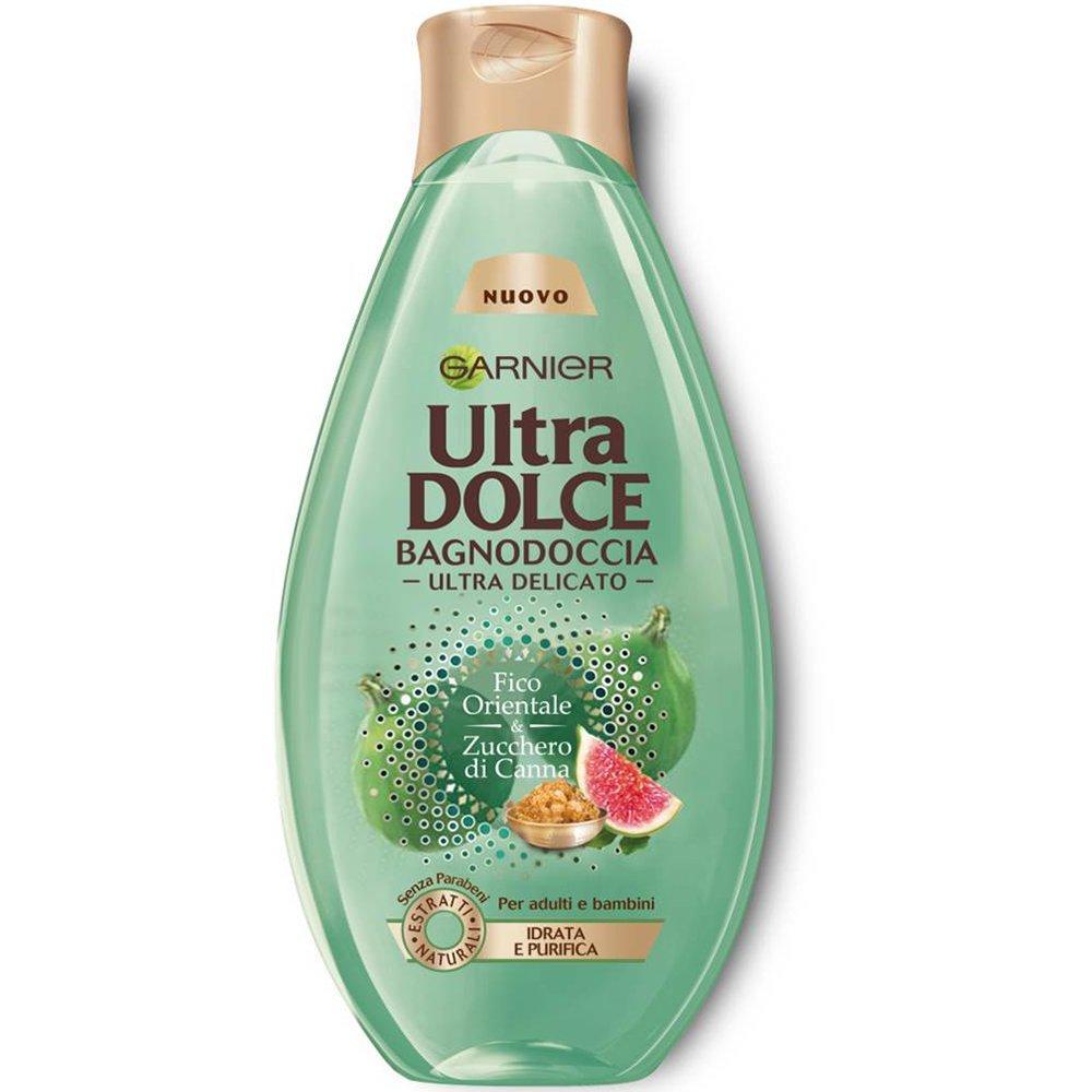 buy online a45ed e03f9 Garnier Ultra Dolce Bagnodoccia Fico e Zucchero di Canna Bagnoschiuma  Purificante, 500 ml