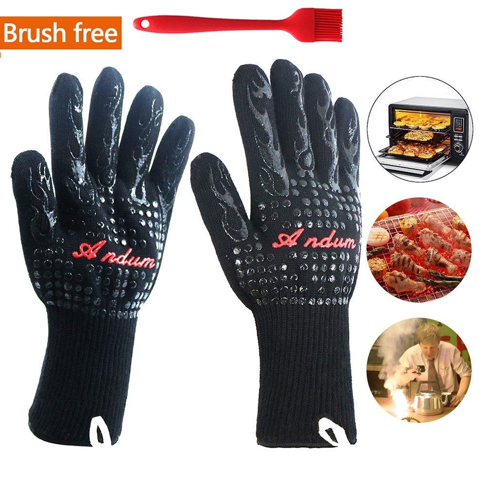 cottura a saldatura. fino a 800 /°C guanti da forno per uomo guanti da forno in silicone antiscivolo Guanti da barbecue resistenti al calore barbecue guanti da forno guanti da cucina per cucina